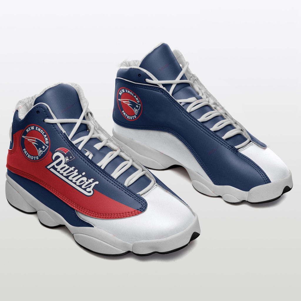 Women's New England Patriots Limited Edition JD13 Sneakers 002