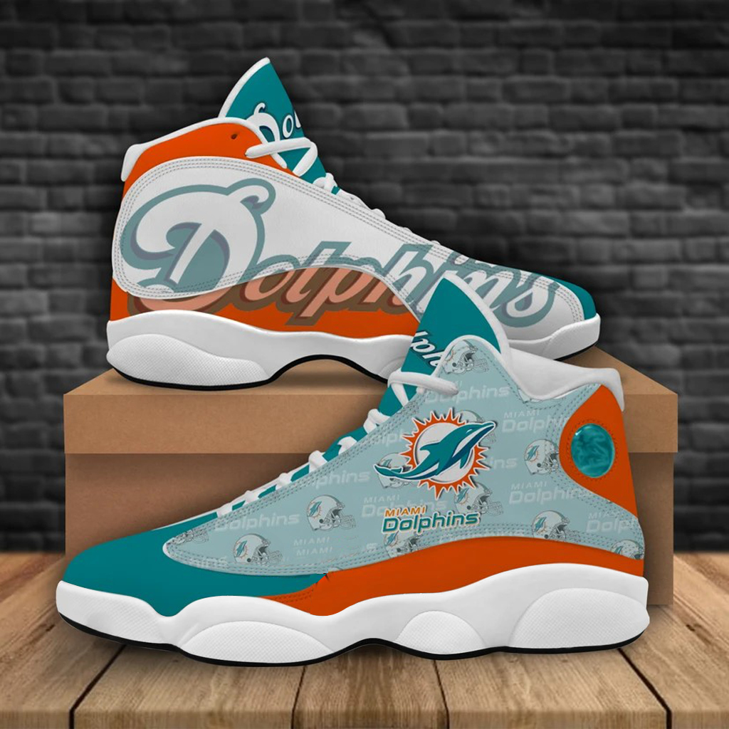 Men's Miami Dolphins Limited Edition JD13 Sneakers 004
