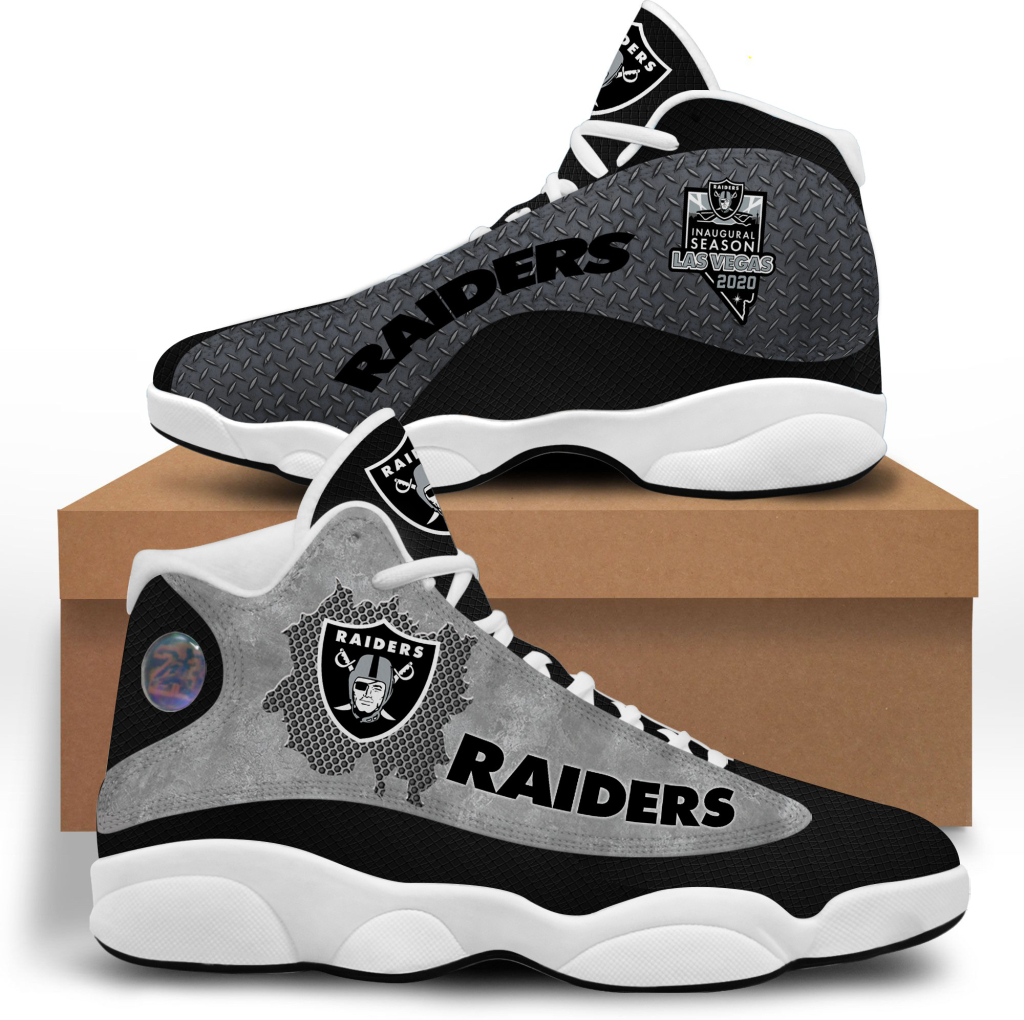 Men's Las Vegas Raiders Limited Edition JD13 Sneakers 002
