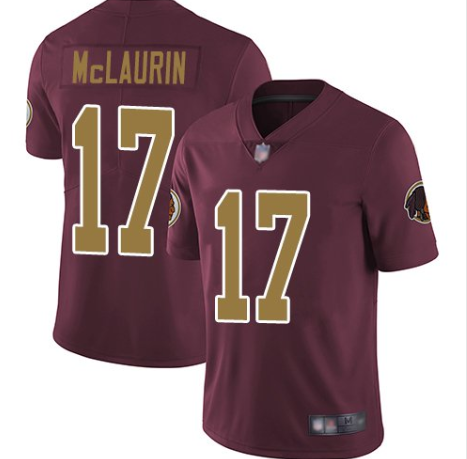 Men's Washington Football Team #17 Terry McLaurin Red Color Rush Limited Stitched Jersey