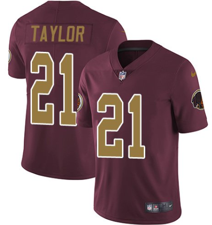 Men's Washington Redskins #21 Sean Taylor Red Color Rush Limited Stitched NFL Jersey