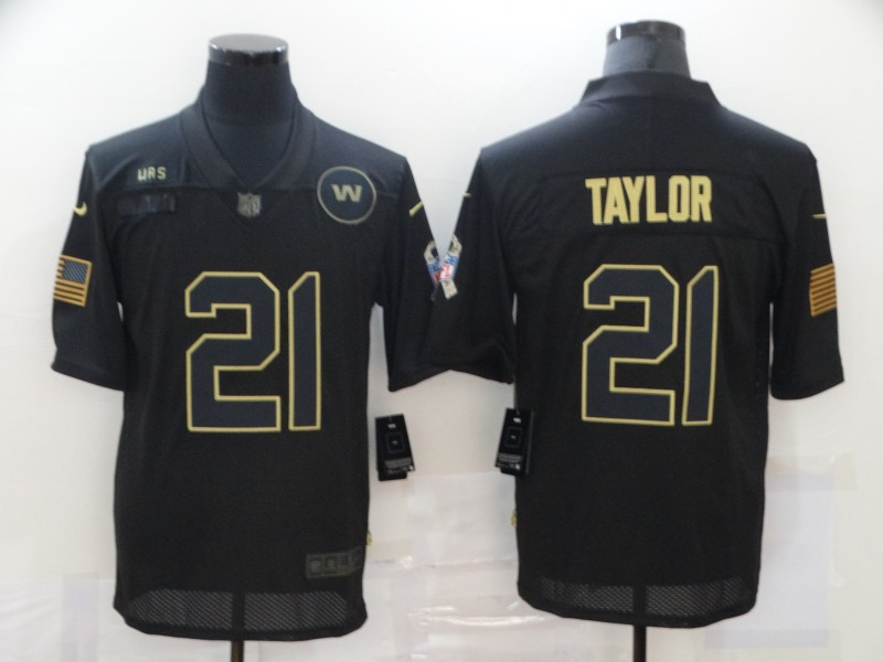 Men's Washington Football Team #21 Sean Taylor 2020 Black Salute To Service Limited Stitched Jersey