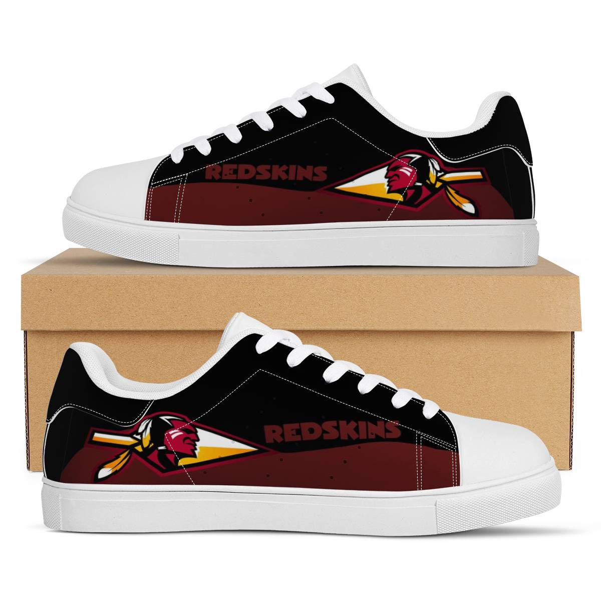 Men's Washington Football Team Low Top Leather Sneakers 003