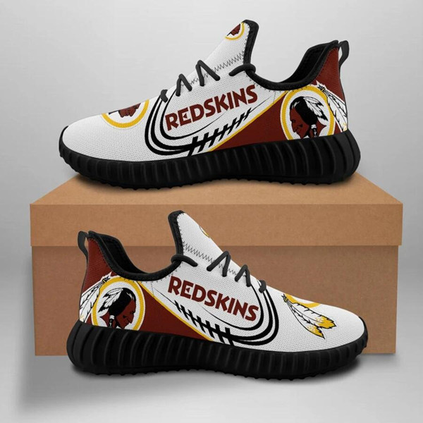 Women's Washington Redskins Mesh Knit Sneakers/Shoes 007