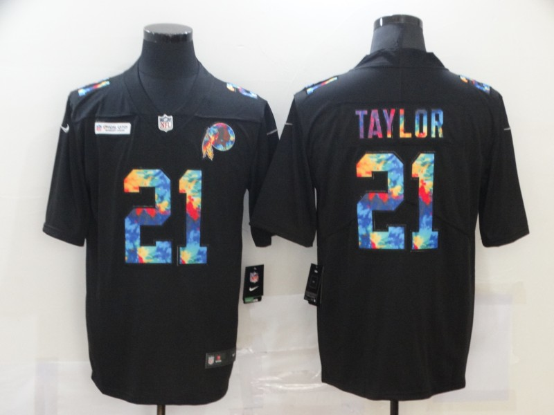 Men's Washington Football Team #21 Sean Taylor 2020 Black Crucial Catch Limited Stitched Jersey