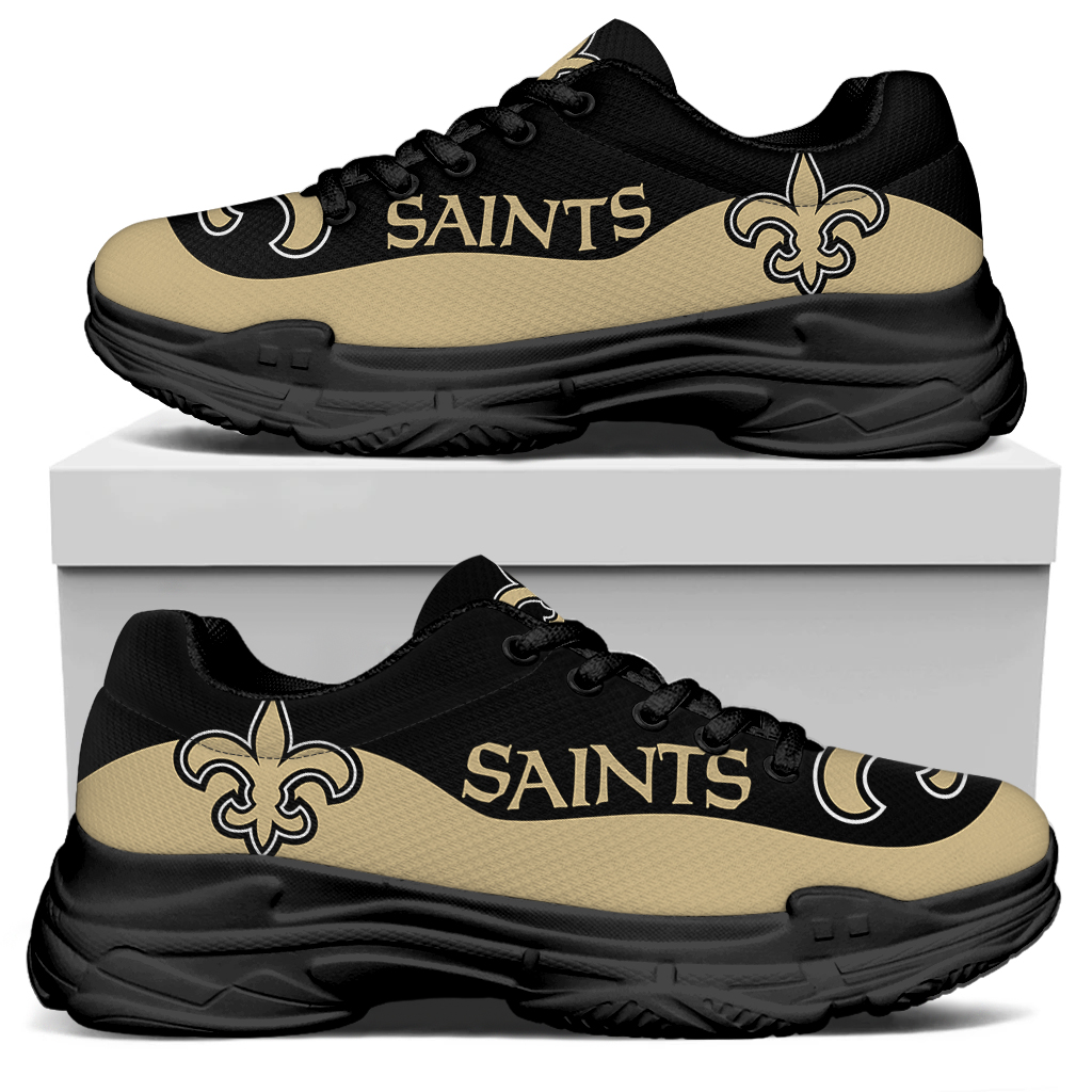 Men's New Orleans Saints Edition Chunky Sneakers With Line 001