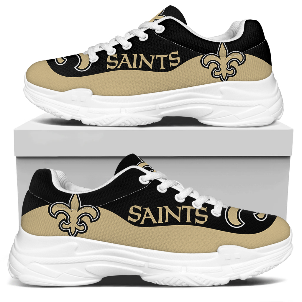 Men's New Orleans Saints Edition Chunky Sneakers With Line 002