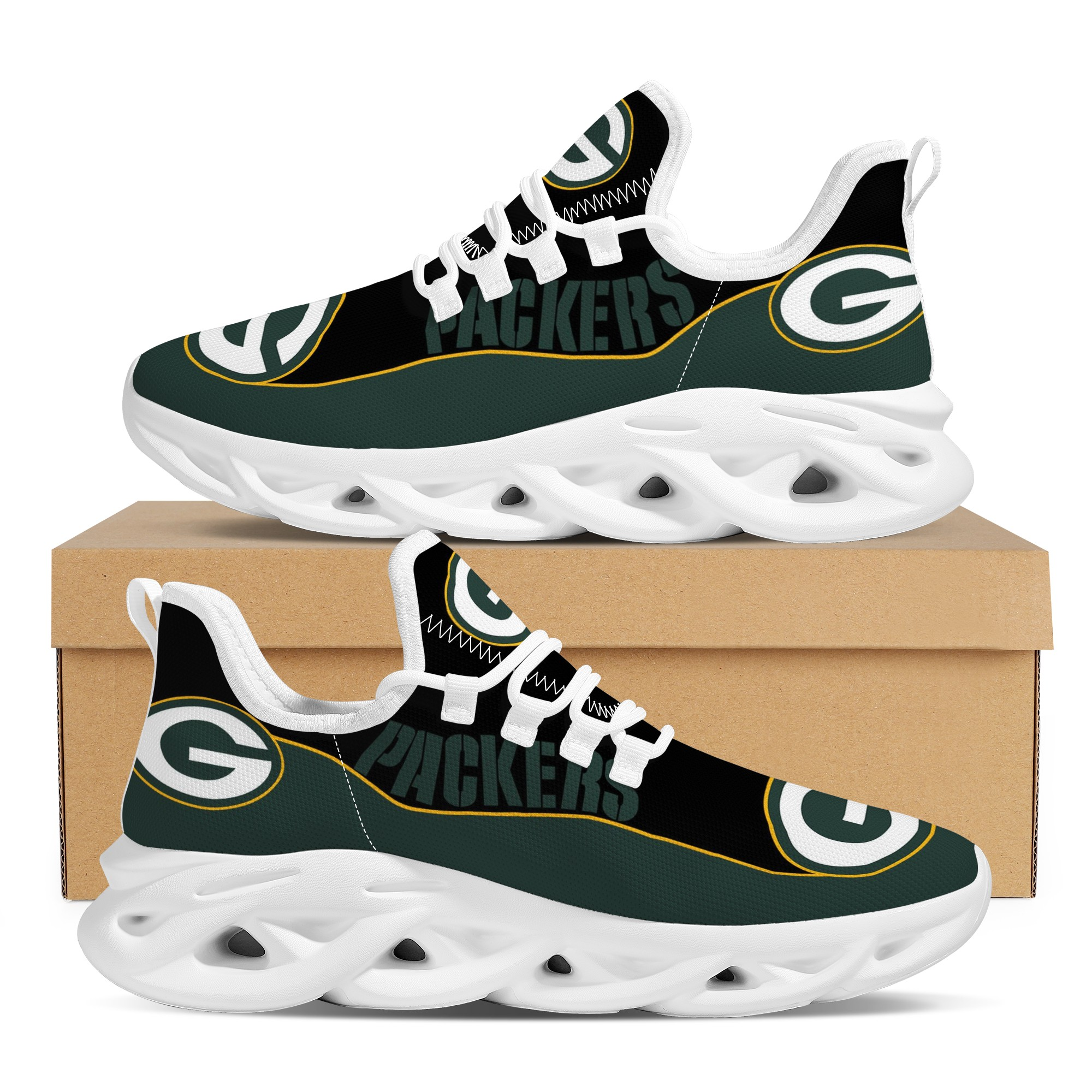 Women's Green Bay Packers Flex Control Sneakers 002