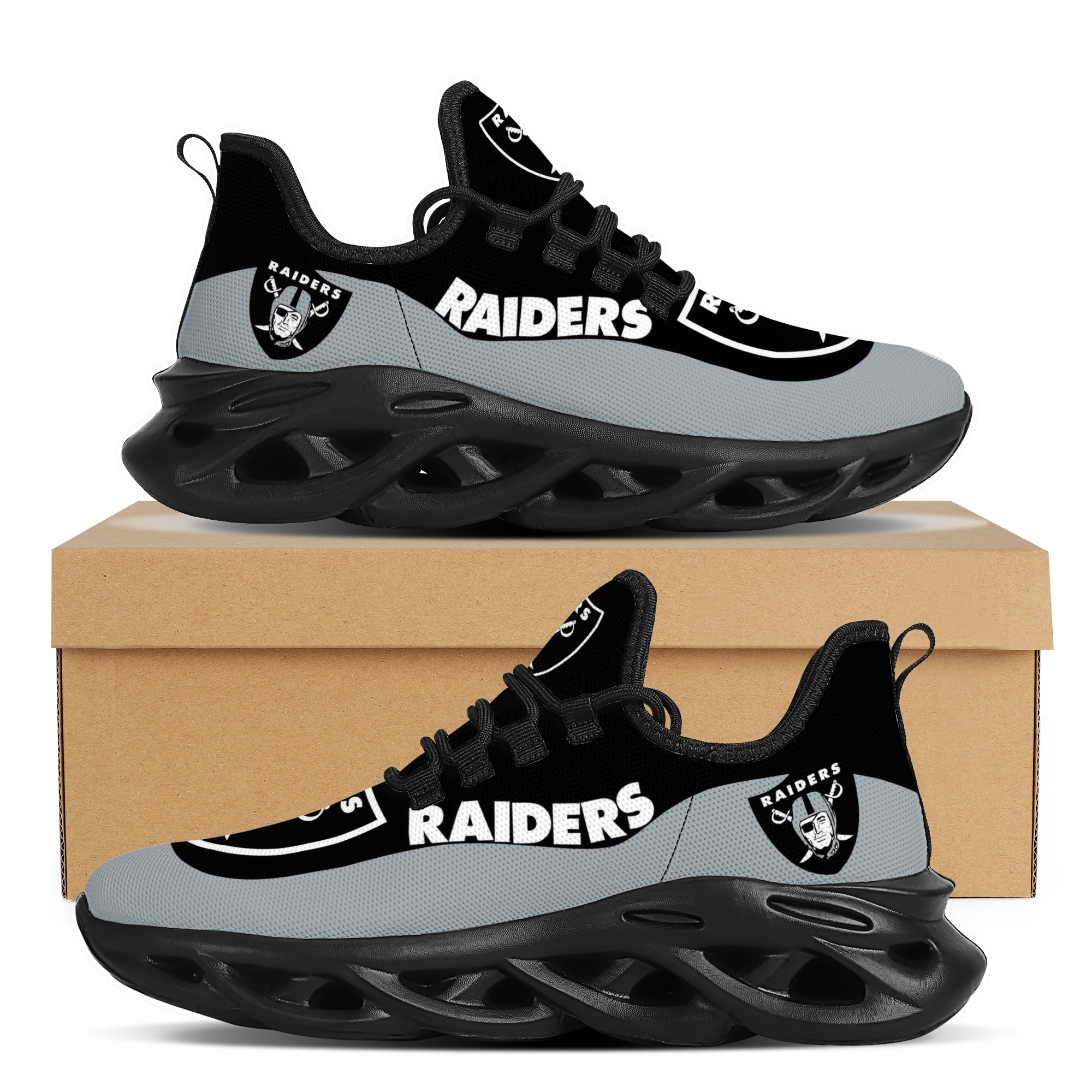 Men's Las Vegas Raiders Flex Control Sneakers 001