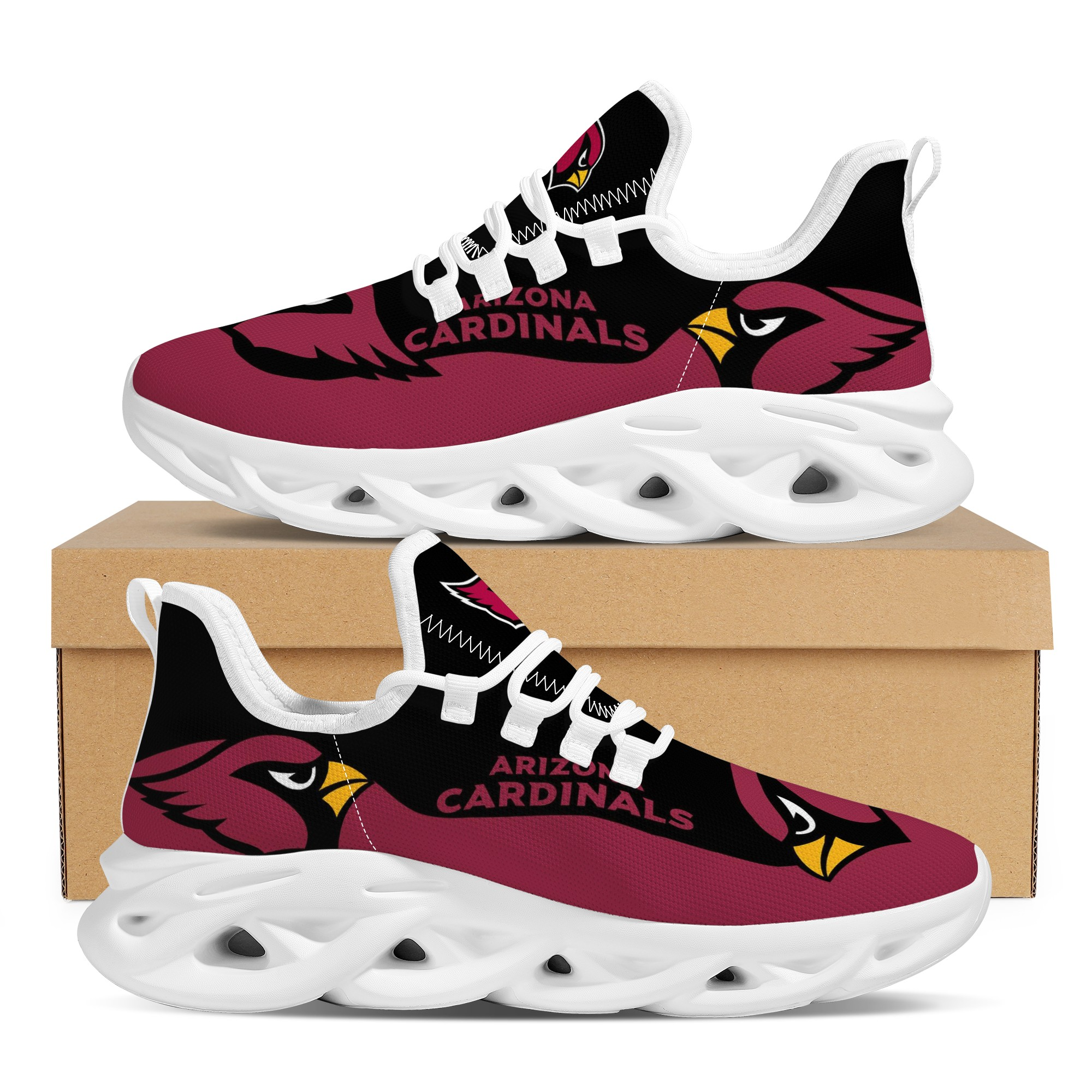 Men's Arizona Cardinals Flex Control Sneakers 002