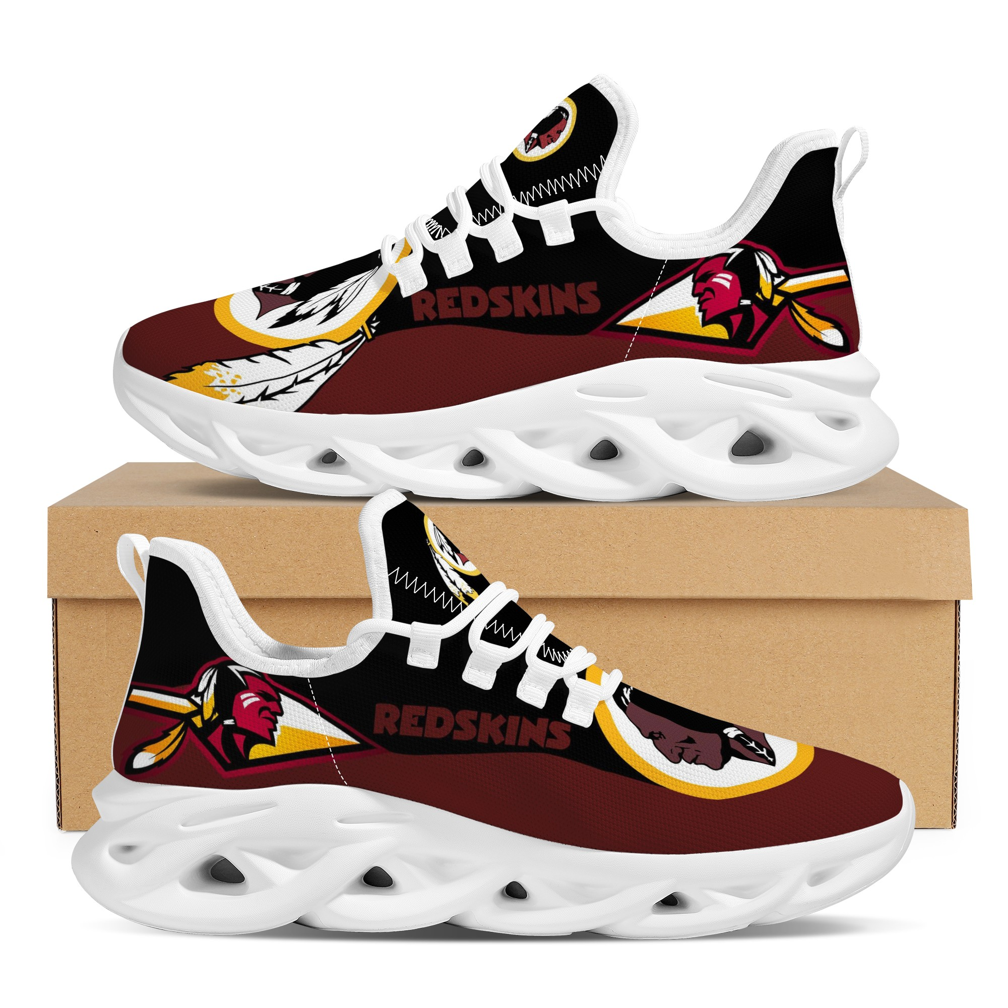 Women's Washington Football Team Flex Control Sneakers 002