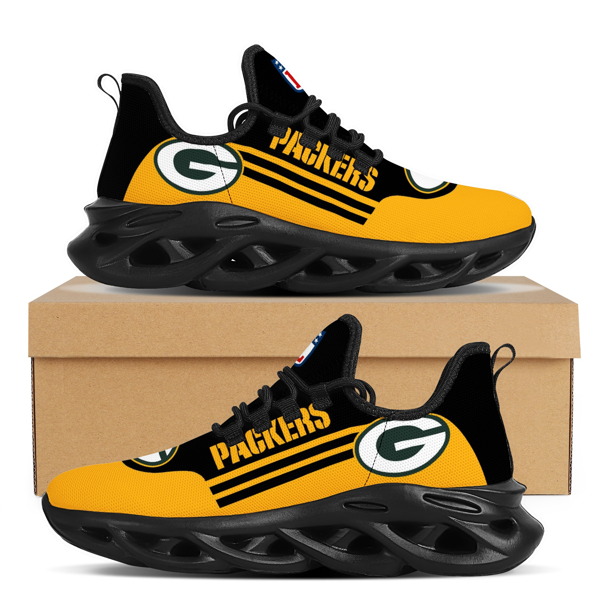 Men's Green Bay Packers Flex Control Sneakers 003