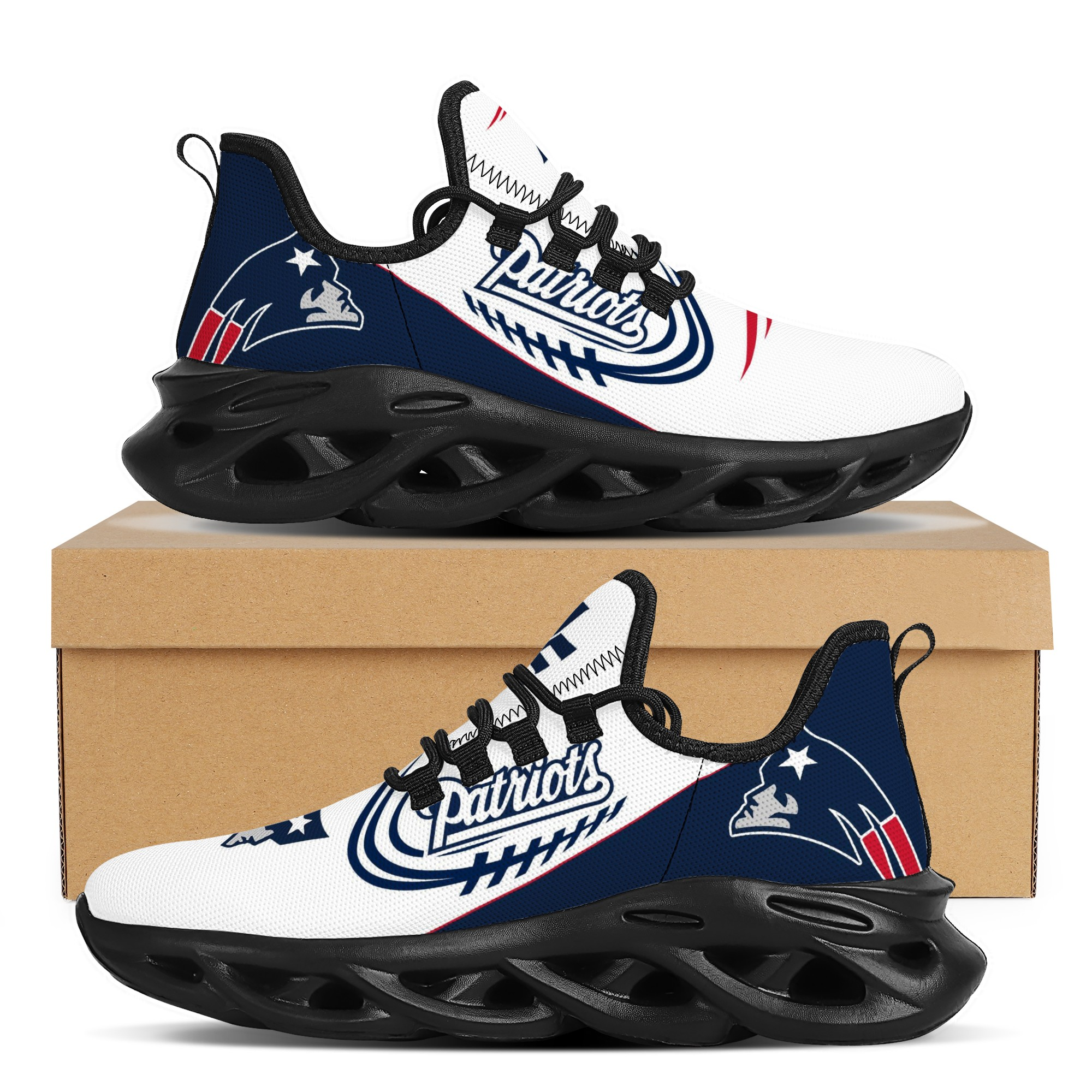 Men's New England Patriots Flex Control Sneakers 001