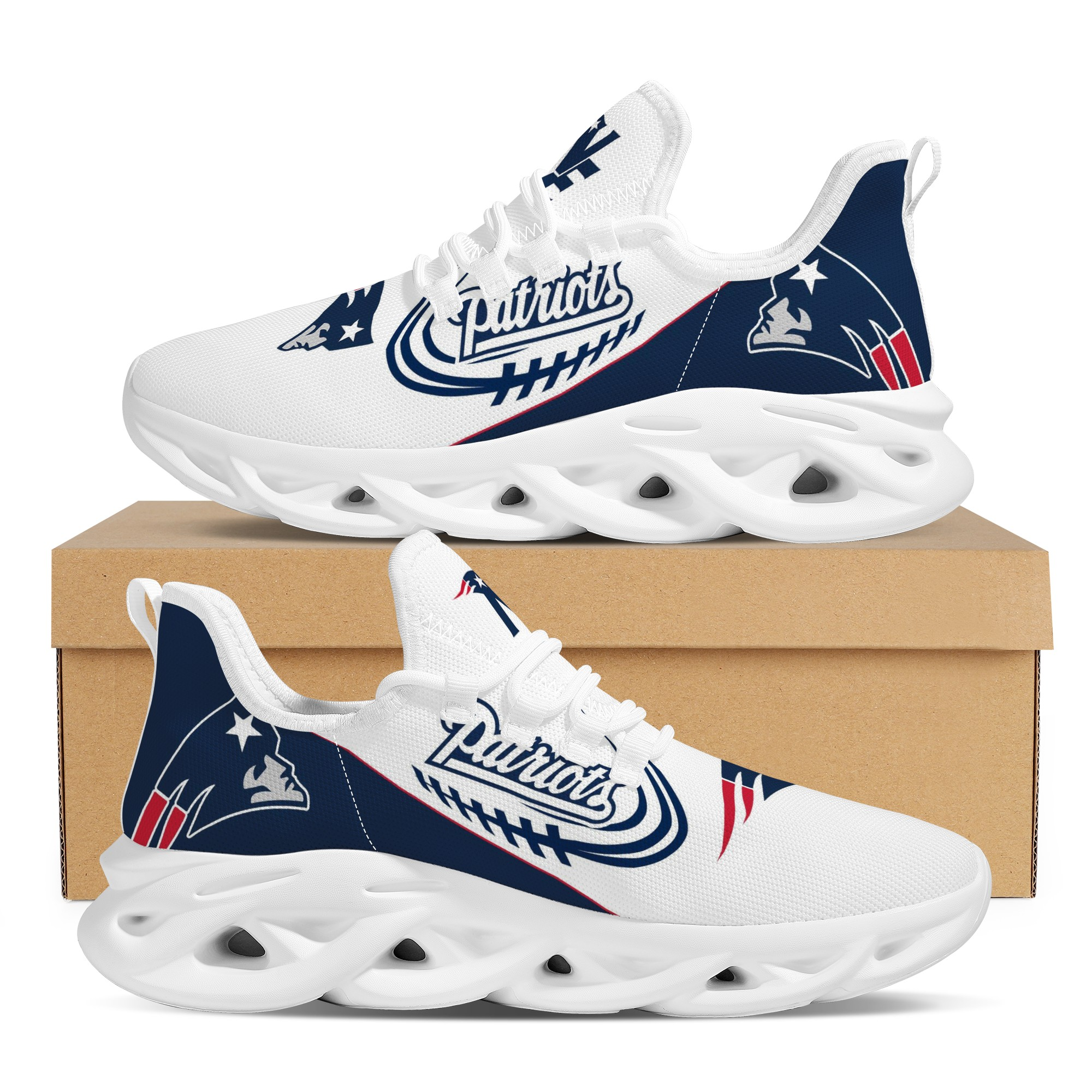 Men's New England Patriots Flex Control Sneakers 002