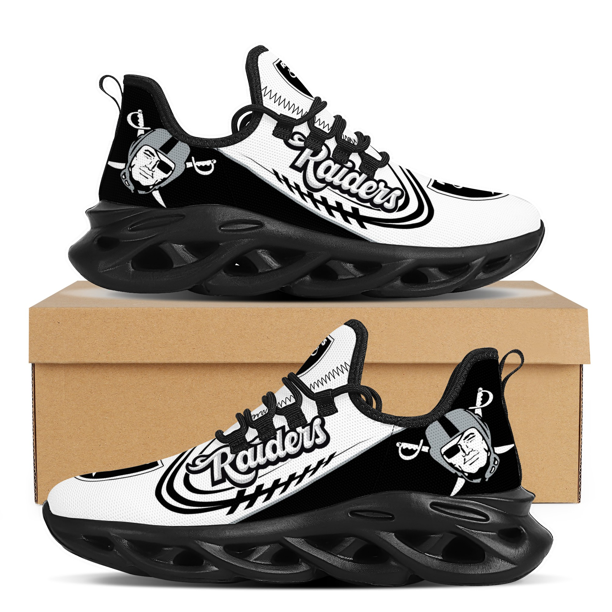 Men's Las Vegas Raiders Flex Control Sneakers 003