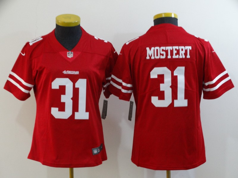 Women's NFL San Francisco 49ers #31 Raheem Mostert Red Vapor Untouchable Limited Stitched Jersey(Run Small)