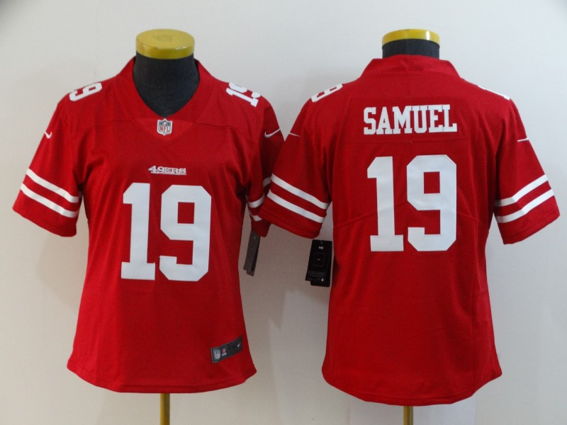 Women's NFL San Francisco 49ers #19 Deebo Samuel Red Vapor Untouchable Limited Stitched Jersey(Run Small)