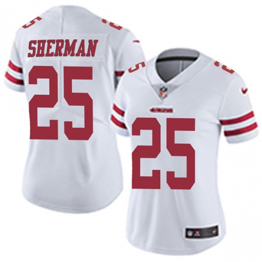 Women's NFL San Francisco 49ers #25 Richard Sherman White Vapor Untouchable Limited Stitched Jersey(Run Small)