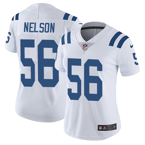 Women's Indianapolis Colts #56 Quenton Nelson White Vapor Untouchable Limited Stitched NFL Jersey(Run Small)