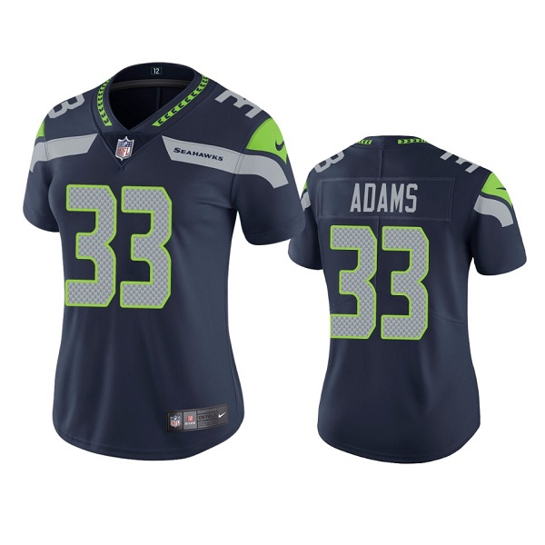 Women's Seattle Seahawks #33 Jamal Adams Navy Vapor Untouchable Limited Stitched Jersey(Run Small)