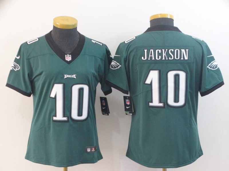 Women's Philadelphia Eagles #10 DeSean Jackson Green Vapor Untouchable LimitedStitched NFL Jersey(Run Small)