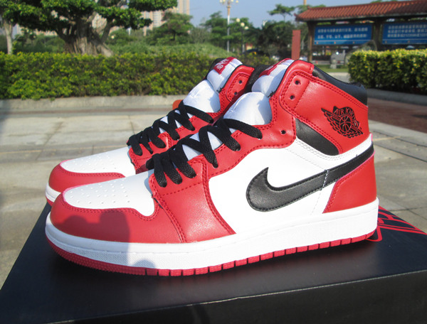 Men's Running weapon Air Jordan 1 Red Shoes 0117