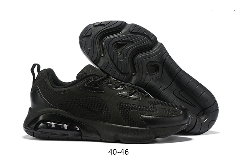 Men's Running weapon Air Max 200 Black Shoes 002