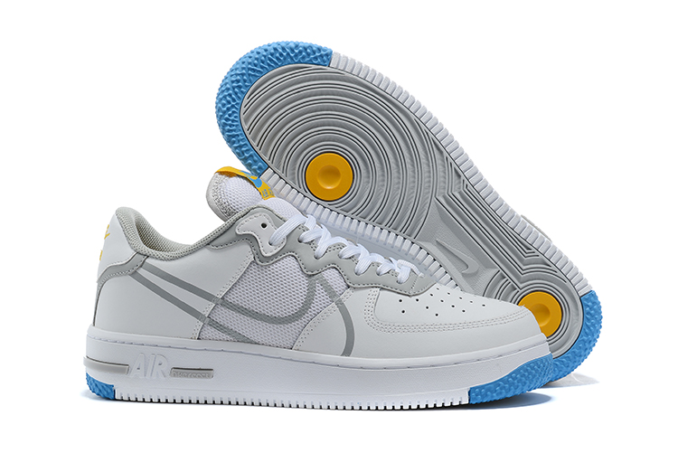 Women's Air Force 1 React White Shoes 002