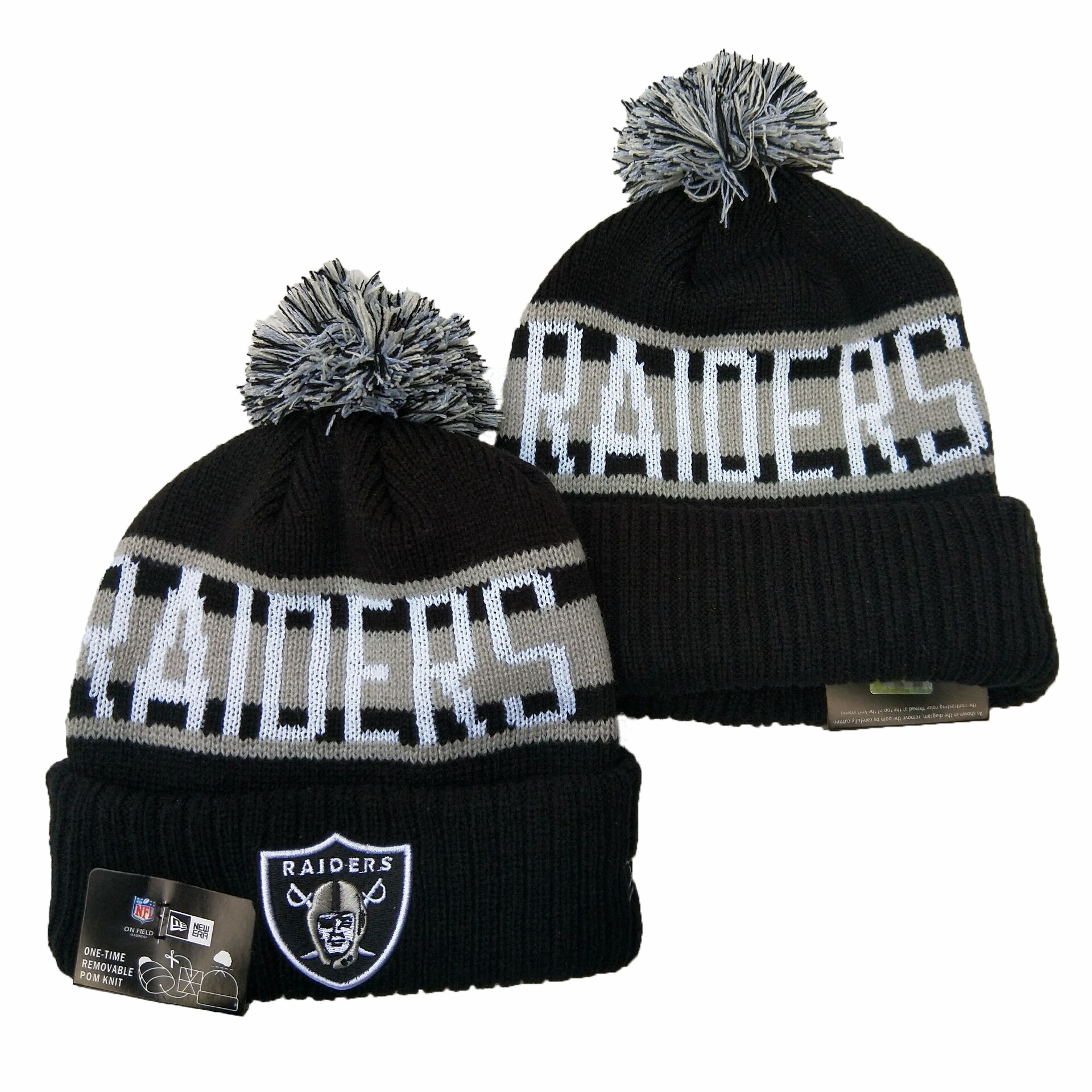 Las Vegas Raiders Knit Hats 055